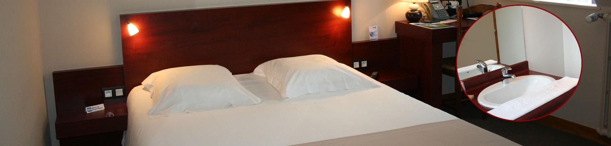 """Chambre confort hôtel """"la potinière"""" Bagnoles de l'orne Normandie"""