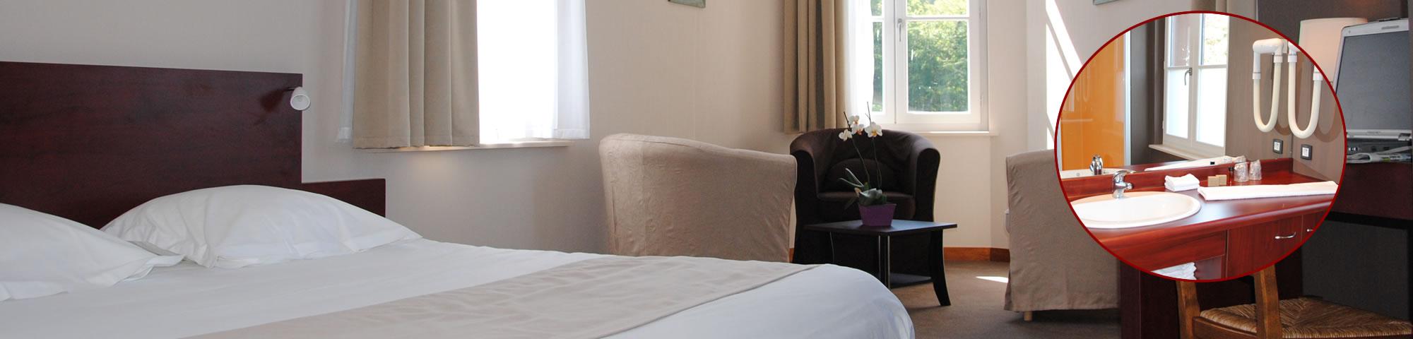 Chambre superieure hôtel la potinière Bagnoles de l'Orne Normandie